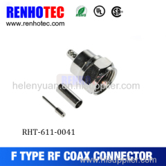 F Type Communication Terminal F Connector Electronic Connector Metal Fitting Connctors