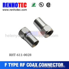 Famous F type male connector for RG8 cable