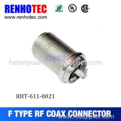 Manufacture F connector Female Bulkhead Jack connector