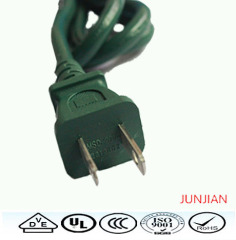 Factory price high quality American 2pin power plug cord
