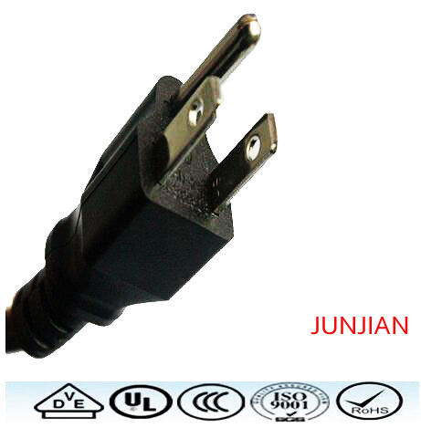 Factory direct US high quality 3pin power plug wire