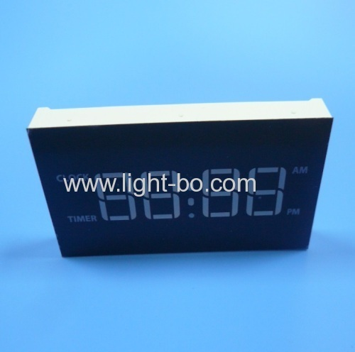 Custom Ultra Blue Four-digit 7 Segment LED Display Common Anode for Digital Gas Cooker