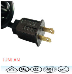 UL standard ac power cord 2pin extension cable