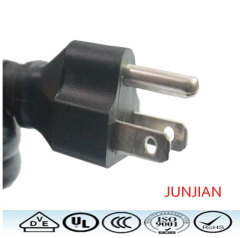 Factory price US Standrad 3pin power plug cable