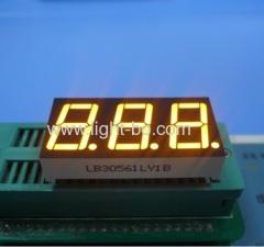 Super luminoso ambra catodo comune 0,56 pollici display giallo / 3 cifre LED indicatore digitale