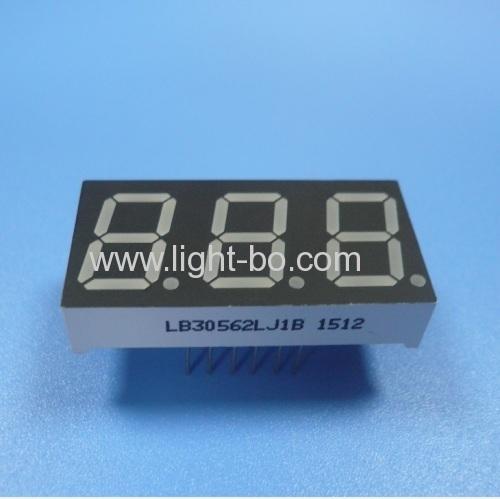 Gemeinsame Kathode superhellen grün 0,56 dreistellige 7-Segment-LED-Anzeige für die digitale Instrumententafel