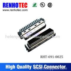 SCSI Female Connector with Current Rating and 68 Positions