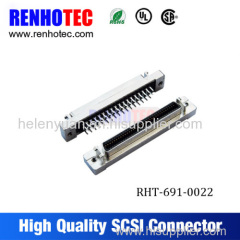 SCSI terminal board connector with 180 degree