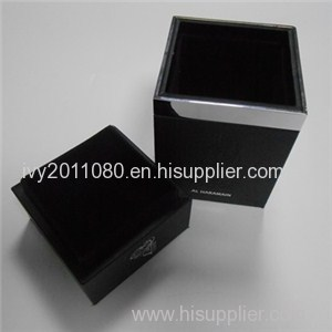 Square Black Wood Box