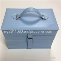 Large Leather Jewelry Box