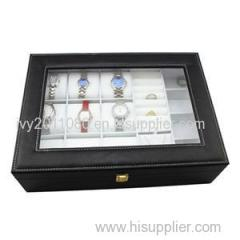 See Through Leather Watch Box