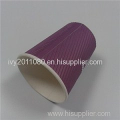 Purple Ripple Paper Cups