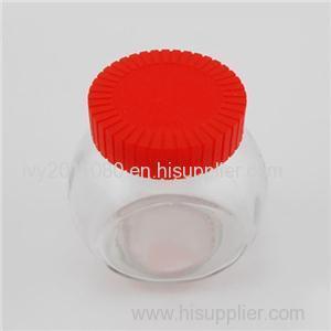 Plastic Cap Glass Honey Jars