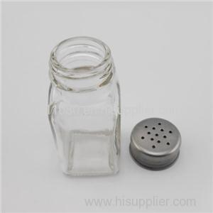 Square Glass Seasoning Jars