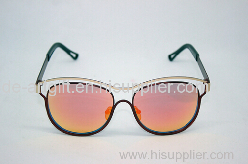 novelty fashion designer women sunglasses with metal & plastic mixed frame