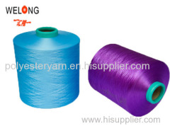 trilobal bright polyester dty yarn in china