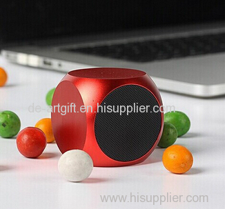 Mini portable stereo bluetooth wireless loudspeaker for mobile phone
