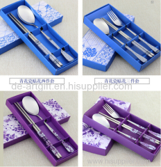 New design with ceramic handle stainless steel tableware
