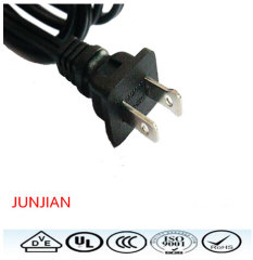 Factory direct US high quality 2pin power plug wire