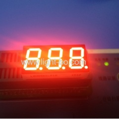 "Super Red Triple Digit 0.56"" 7 Segment LED Display common cathode for Digital Temperature Indicator"