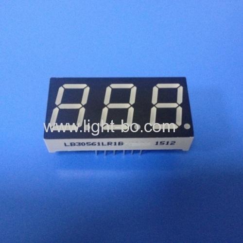Super Red Triple Digit 0.56  7 Segment LED Display common cathode for Digital Temperature Indicator