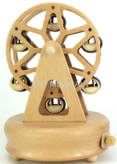 BATTERY OPERATED WOODEN MUSIC BOX