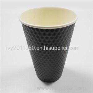 Black Blank Paper Cups