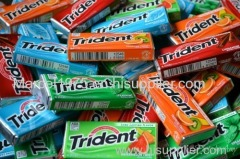 Stick Bubble Gum With Tattoo Trident Chewing Gum