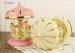 Beautiful lighted musical Christmas resin carousel