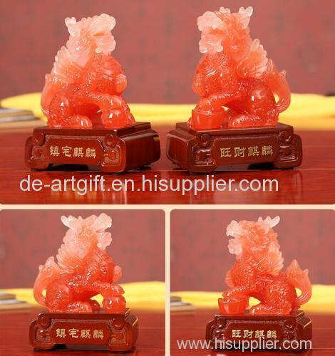 resin imitation jade kylin/kylin China/resin imitaion jade crafts