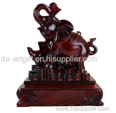 Resin antique elephants decor