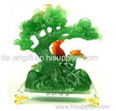 Christmas ornaments tree resin Jade Figurines