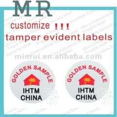 Hot Sale Permanent Adhesive Sticker Printing Security Breakable Anti-theft Warranty Sticker Label