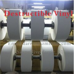 China largest factory of Adhesive Products wholesale high quality destructible vinyl paper roll and any design sheets
