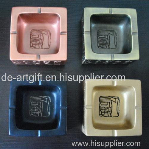 Print custom logo ashtray resin Custom Cigar Ashtray