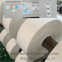 Best price of high quality destructible self adhesive vinyl roll for tamper evident warranty screw vinyl sticker