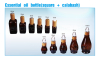 100ml glass bottle with bamboo pump sprayer cap dropper