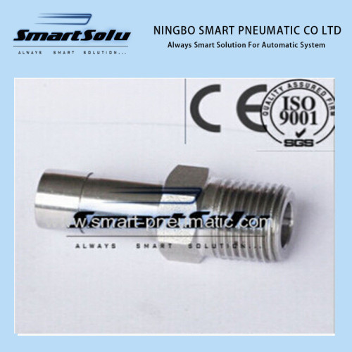Stainless Steel Straight Male Weld Connector/Fitting