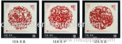chinese folk paper cut art happy new year flocking paper cutting
