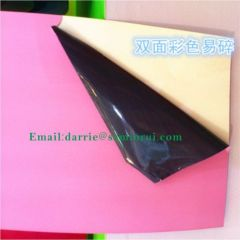 China largest manufacturer of Adhesive Products wholesale colorful tamper evident destructive vinyl label paper