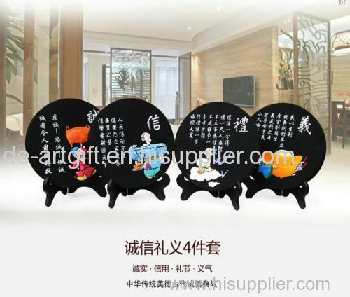 Chinese carbon carving sitting room decoration