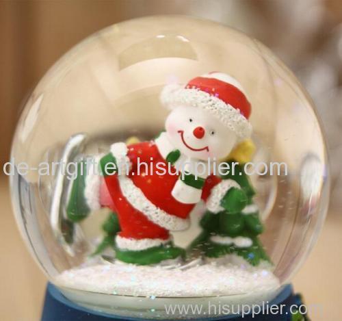 resin christmas snow globe water globe snow ball