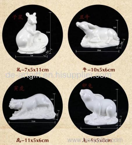 Figurine Miniature Ceramic Animal Collectible Gift