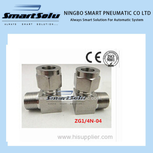 Stainless 90 Compression Adapter Straight terminal fittings