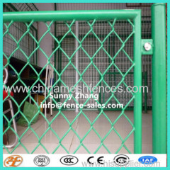 galvanized interlinking mesh fence panel