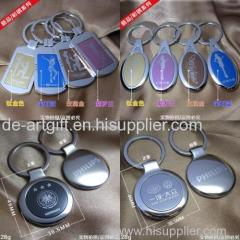 Fashion balnk bulk cheap custom logo projector alloy keychain