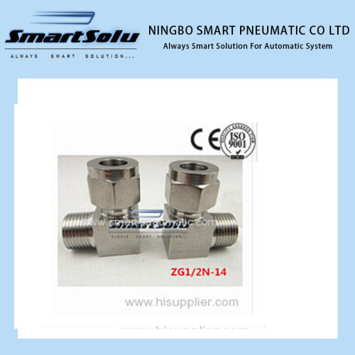 Free shipping Stainless 90 Compression Adapter Straight terminal fittings