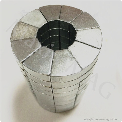 Product Detail Neodymium Magnets In Fan Shapes For Electric Motors