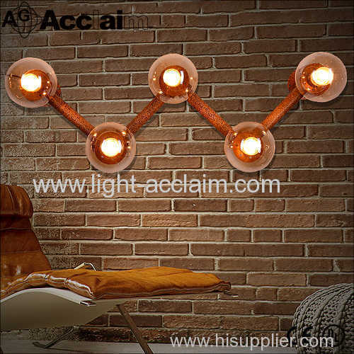 2016 new hot models W letters creative industries wall lights Beanstalk wall sconce