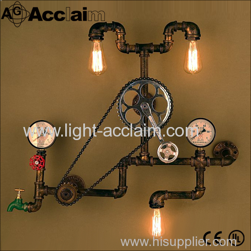 Water Industry wall sconce loft axle decorative wall sconce Personalized water three industrial wind